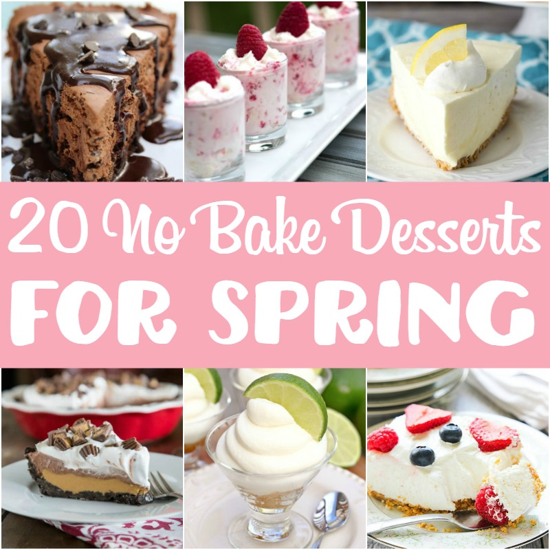 20 No Bake Desserts for Spring