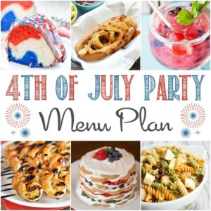 Make your backyard BBQ the hit fo the neighborhood with a few of our favorite 4th of July Party Menu Plan recipes!